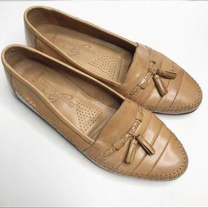 Giorgio Brutini tan slip on leather loafers sz 10D